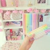 home accessory,pencils,school supplies,kawaii,kawaii accessory,pastel,stationary