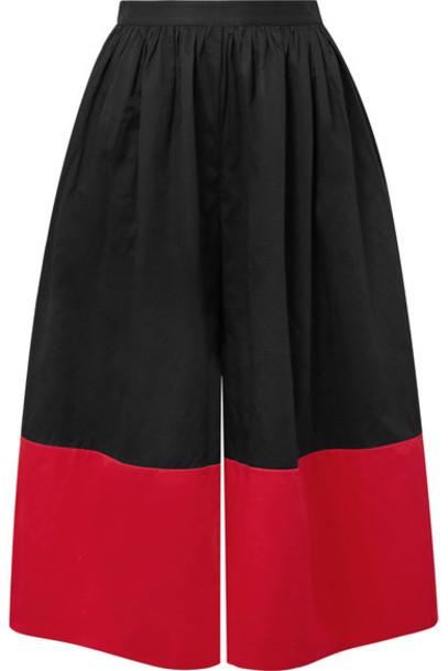 Mara Hoffman pants wide-leg pants cropped cotton black