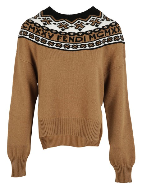 Fendi sweater knitted sweater embroidered