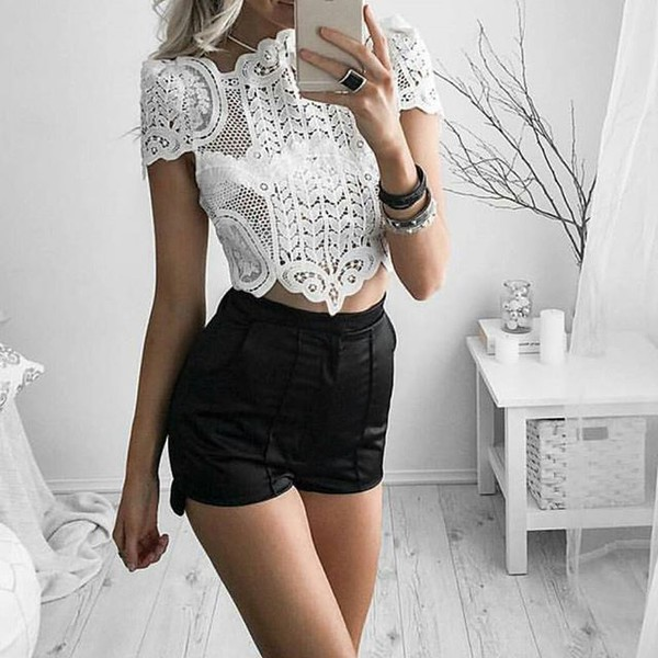 top red splash boutique lace top crop tops fashion blogger sexy top white top