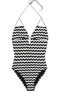 Undrest|Ibiza woven zigzag swimsuit|NET-A-PORTER.COM