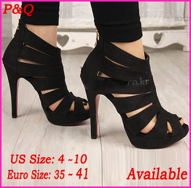Time limited Discount Big Size 4 ~ 10 2013 New Fashion Sexy Red Bottoms 11cm High Heels Women Pumps Open Toe Wedding Dress Shoes-in Pumps from Shoes on Aliexpress.com