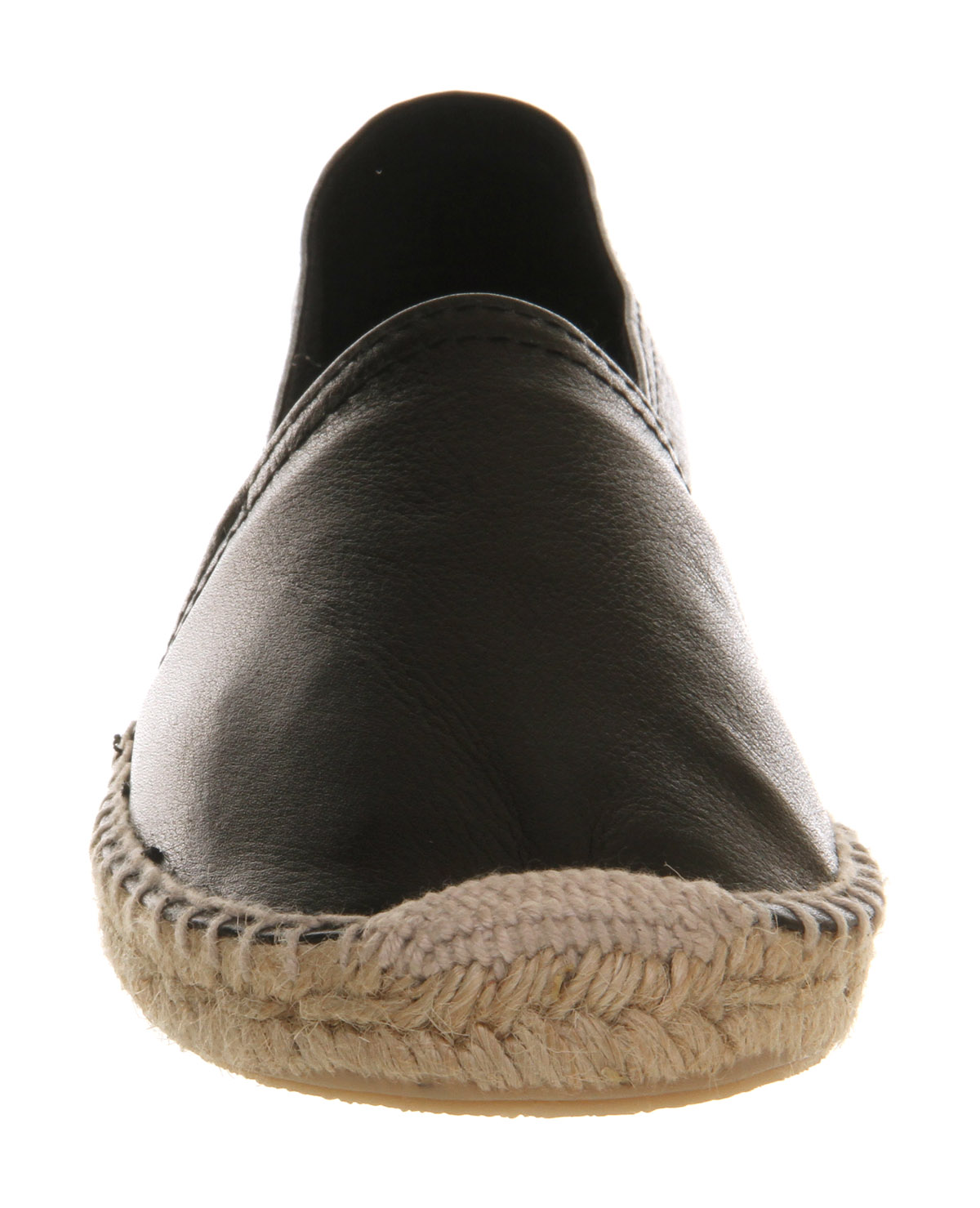 Office Kapture Espadrille Black Leather - Flats