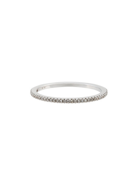 ROSA DE LA CRUZ diamond ring women ring gold white grey metallic jewels