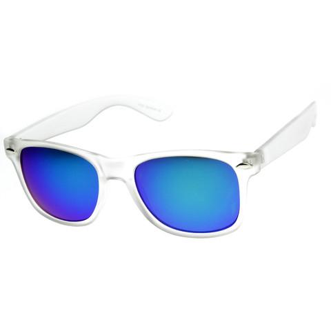 Frosted Frame Revo Reflective Lens Wayfarer Sunglasses 8026                           | zeroUV