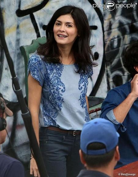 audrey tautou blouse tautou