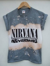 shirt,cotton nirvana nevermind tee