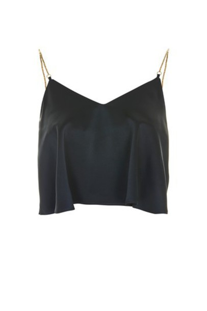 Topshop top navy blue