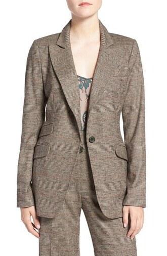 jacket blazer plaid