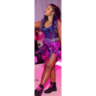 dress tims birthday dress sweet 16 dresses blue dress purple dress purple lipstick black timberlands timberland shoes