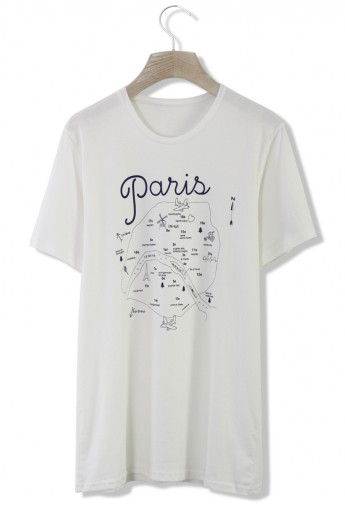 Paris Route Oversized T-Shirt - Retro, Indie and Unique Fashion