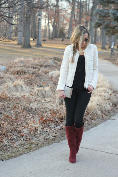 lilly's style blogger jacket boots