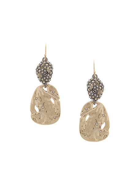 Alexis Bittar women embellished gold grey metallic jewels