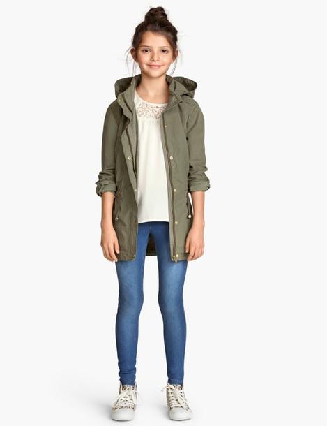 jacket army green jacket kids fashion girl