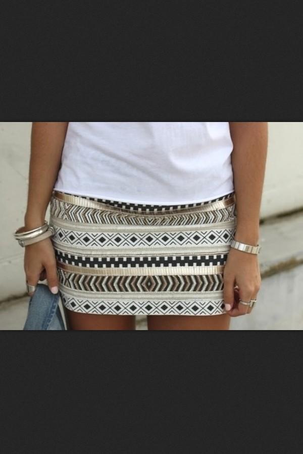 Skirt Aztec Aztecclothing Clothing Fashion Clothes Dress Gold