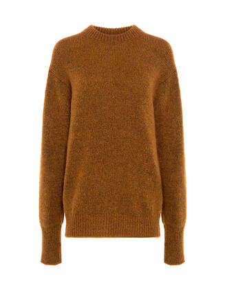 sweater mohair orange