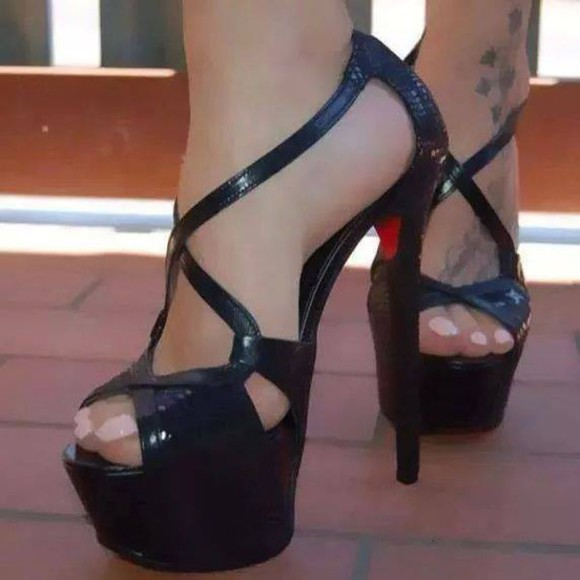shoes high heels sandals red bottoms tacones louboutins sandals heels shoes open toed sandals high hells pumps heels, pumps, red, shoes, high heels, black shoes exagona
