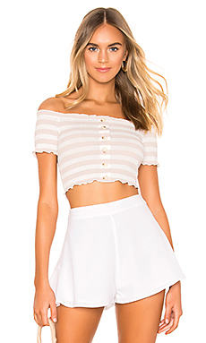 superdown Maddie Knit Top in Pink Stripe from Revolve.com