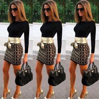 dress black dress little black dress long sleeves