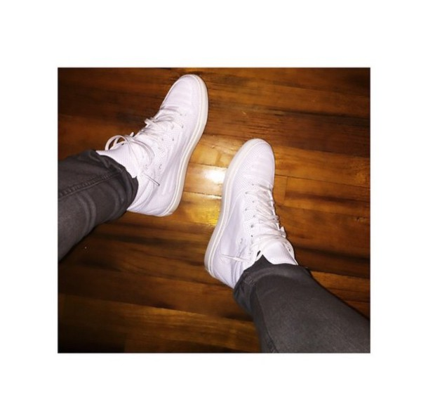 shoes sneakers white sneakers white casual spring style