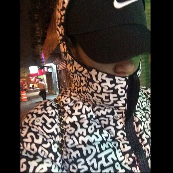 dope black and white down jacket winter coat mens jacket menswear