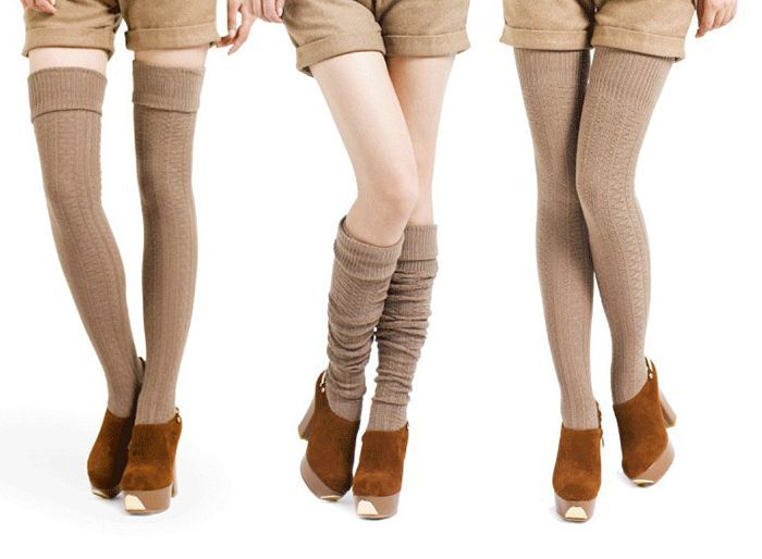 826f70654254b Autumn Winter Cozy Thick Over The Knee Thigh High Socks ...