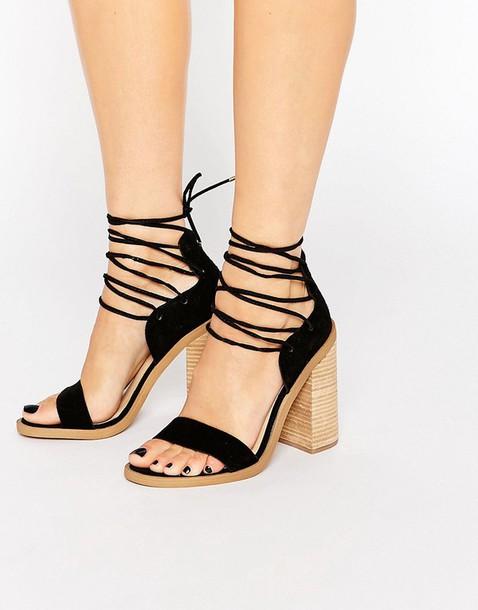 88ace75558e shoes lace-up shoes lace up black shoes black sandals block heels block  heel sandals