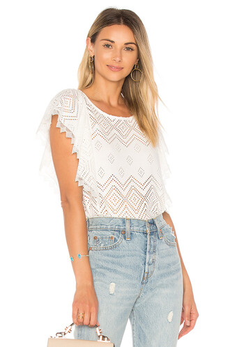 top lace top pleated lace white