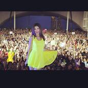 dress,yellow,fluorescent yellow,victoria justice,yellow summer dress