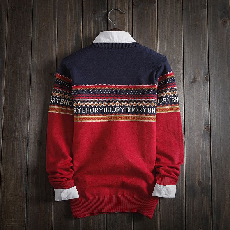Ethnic Fair Isle Knitwear Comfortable Sweater – Shop with Hearts