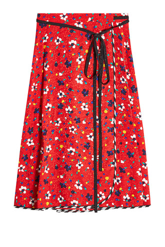 skirt wrap skirt silk