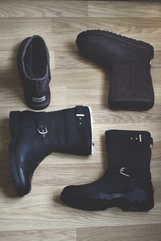 shoes ugg boots kids fashion boots black black boots brown shoes grandle