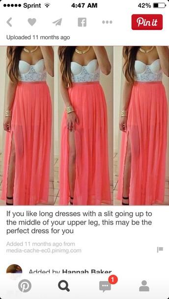 dress with a split long dress