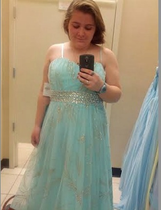 dress prom dress ball gown turquoise gold