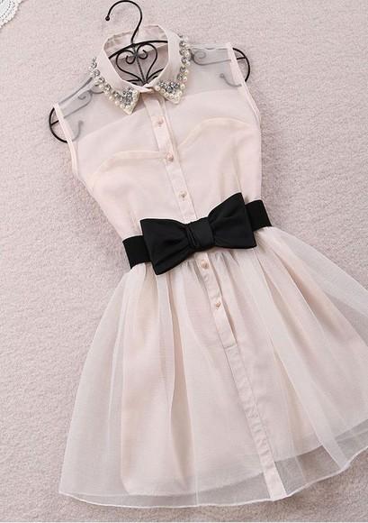 cute white dress dress cute dress bow dress