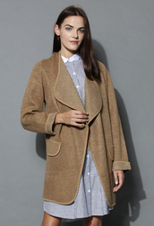 coat,just knitted open coat in brown,brown,chicwish