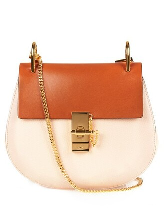 bag shoulder bag leather light pink light pink