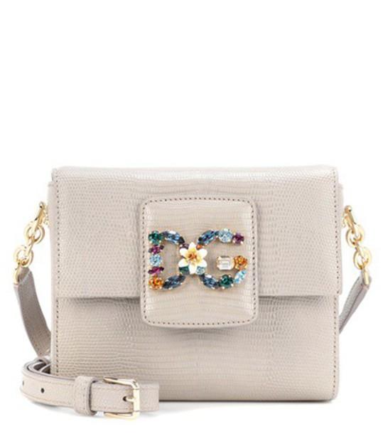 Dolce & Gabbana mini bag shoulder bag leather grey