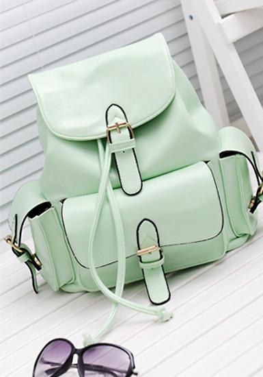 Foldover buckled backpack