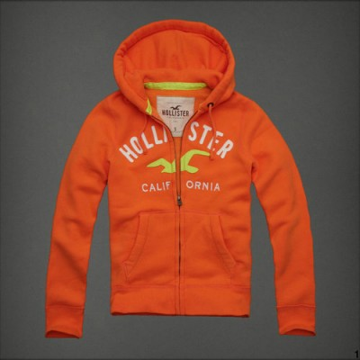Cheap Hollister Men Hoodies With Zipper Hollister Bird Small California Orange UK Outlet