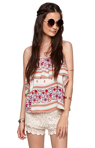 La hearts crochet shorts at pacsun.com