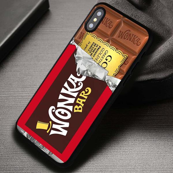 Golden Ticket Chocolate Bar Willy Wonka Bar Disney - iPhone X 8  7 6s SE Cases & Covers #iPhoneX