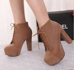 Online shop free shipping new arrival women's thick heel high