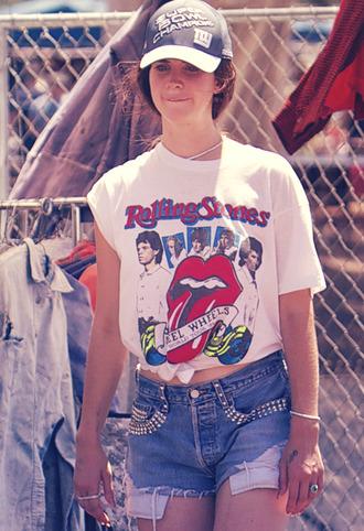 t-shirt lana del rey shirt short cute the rolling stones summer clothes