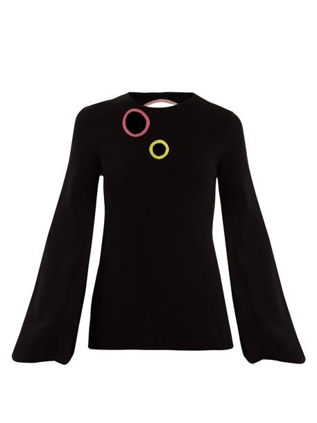 Roksanda sweater cut-out black