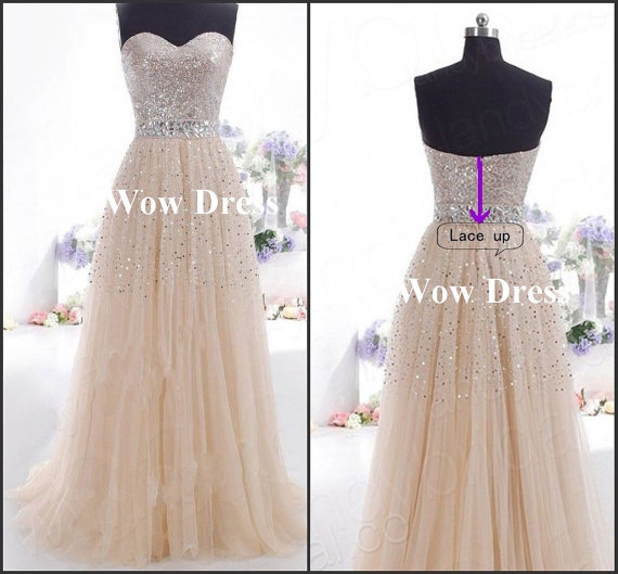 Aliexpress.com : Buy Long Prom Dress 2014 / Sweetheart Sequined Tulle Evening Dress 2014 Free Shipping Cheap Party Dress Under $100 from Reliable dress formal dress suppliers on Simple Dress Store