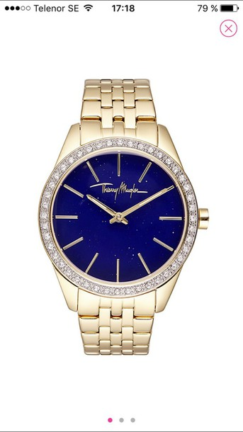 thierry mugler gold watch watch jewels