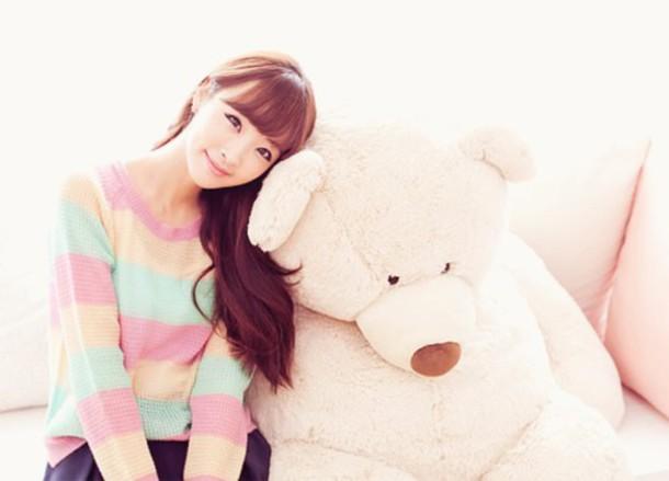 sweater multicolor kfashion korean fashion asian asian fashion