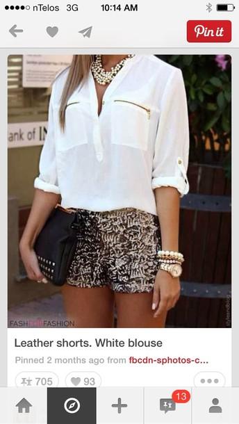 shorts blouse shirt new year's eve pants