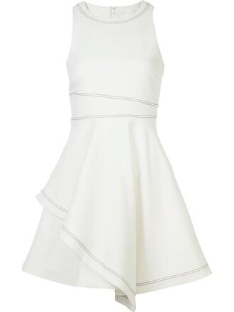 dress women spandex layered white